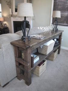24 Console Tables Behind Couch Decor Ideas