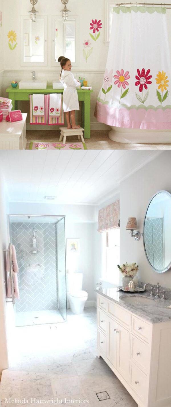 24 Awesome teen girls bathroom designs - My Life Spot